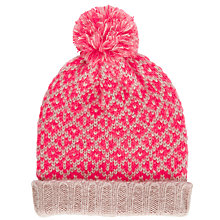 Buy John Lewis Mix & Match Pom Pom Beanie Hat, Coral/Blush Online at johnlewis.com