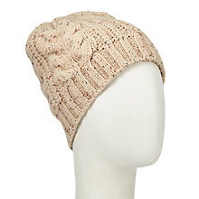 Buy John Lewis Tree Cable Beanie Hat, Oat Online at johnlewis.com