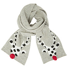 Buy John Lewis Spotted Deer Scarf, Grey/Pink Online at johnlewis.com