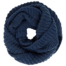 Buy John Lewis Metallic Linear Snood, Navy Online at johnlewis.com
