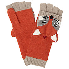 Buy John Lewis Fox Trapper Gloves, Red/Multi Online at johnlewis.com