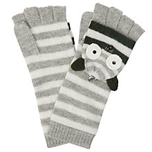 Buy John Lewis Owl Trapper Gloves, Charcoal Online at johnlewis.com