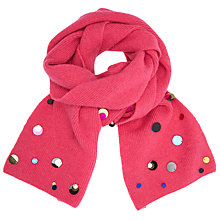 Buy John Lewis Metallic Disc Scarf, Pink Online at johnlewis.com