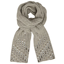 Buy John Lewis Ribbed Smokey Sequin Scarf, Grey Online at johnlewis.com