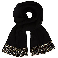 Buy John Lewis Encrusted Embellished Scarf, Black Online at johnlewis.com