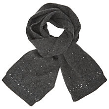 Buy John Lewis Studded Wool Blend Scarf, Charcoal Online at johnlewis.com