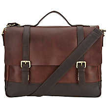 Buy JOHN LEWIS & Co. Leather Satchel, Brown Online at johnlewis.com