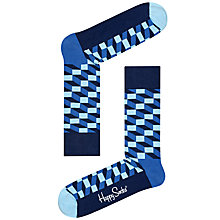 Buy Happy Socks Filled Optic Print Socks, One Size Online at johnlewis.com