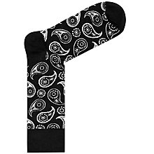 Buy Happy Socks Paisley Socks, One Size, Black/White Online at johnlewis.com