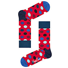 Buy Happy Socks Big Dot Socks, One Size, Red Online at johnlewis.com