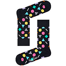 Buy Happy Socks Play Socks, One Size, Black/Multi Online at johnlewis.com