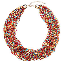Buy John Lewis Bead Statement Necklace, Red/Multi Online at johnlewis.com