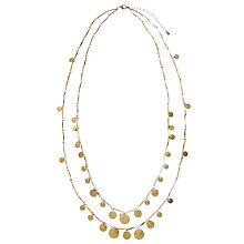 Buy John Lewis Dual Long Circle Necklace, Gold Online at johnlewis.com