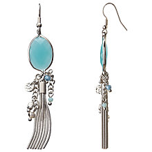 Buy John Lewis Chain Tassel Drop Earrings, Silver/Blue Online at johnlewis.com