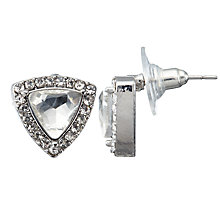 Buy John Lewis Triangle Cubic Zirconia Large Stud Earrings, Silver Online at johnlewis.com