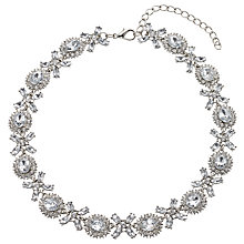 Buy John Lewis Statement Cubic Zirconia and Glass Crystal Collar Necklace, Silver Online at johnlewis.com
