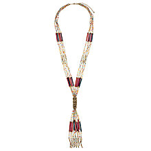 Buy John Lewis Long Row Tassel Necklace, Multi Online at johnlewis.com