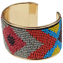 Buy John Lewis Seed Bead Cuff, Multi Online at johnlewis.com