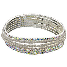 Buy John Lewis Multi Pack Skinny Diamante Bangles, Silver Online at johnlewis.com