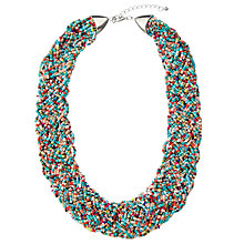 Buy John Lewis Bead Statement Necklace, Turquoise/Multi Online at johnlewis.com