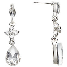 Buy John Lewis Glass and Cubic Zirconia Drop Earrings, Silver Online at johnlewis.com