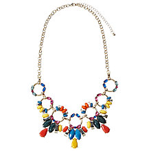 Buy John Lewis Mixed Stone Statement Collar Necklace, Gold/Multi Online at johnlewis.com
