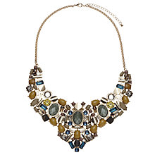 Buy John Lewis Cabochon Tribal Collar Necklace, Green/Multi Online at johnlewis.com