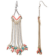 Buy John Lewis Tassel Drop Earrings, Coral Online at johnlewis.com