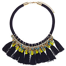 Buy John Lewis Tribal Tassel Collar Necklace, Navy/Multi Online at johnlewis.com