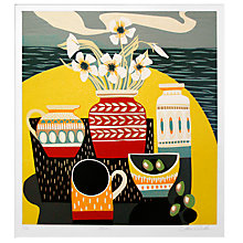 Buy Jane Walker - Olives Limited Edition Framed Linocut, 50 x 53cm Online at johnlewis.com