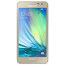 "Buy Samsung Galaxy A3 Smartphone (2016), Android, 4.7"", 4G LTE, SIM Free, 16GB Online at johnlewis.com"