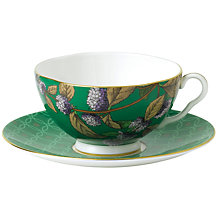 Buy Wedgwood Tea Garden Green Tea & Mint Teacup & Saucer Online at johnlewis.com