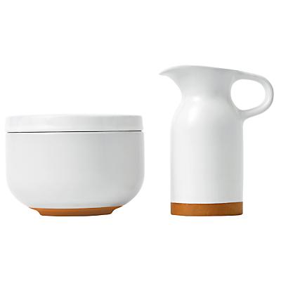 Royal Doulton Olio Sugar Bowl & Milk / Cream Jug, White
