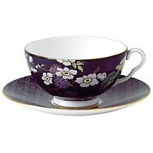 Buy Wedgwood Tea Garden Blackberry Teacup & Saucer Online at johnlewis.com
