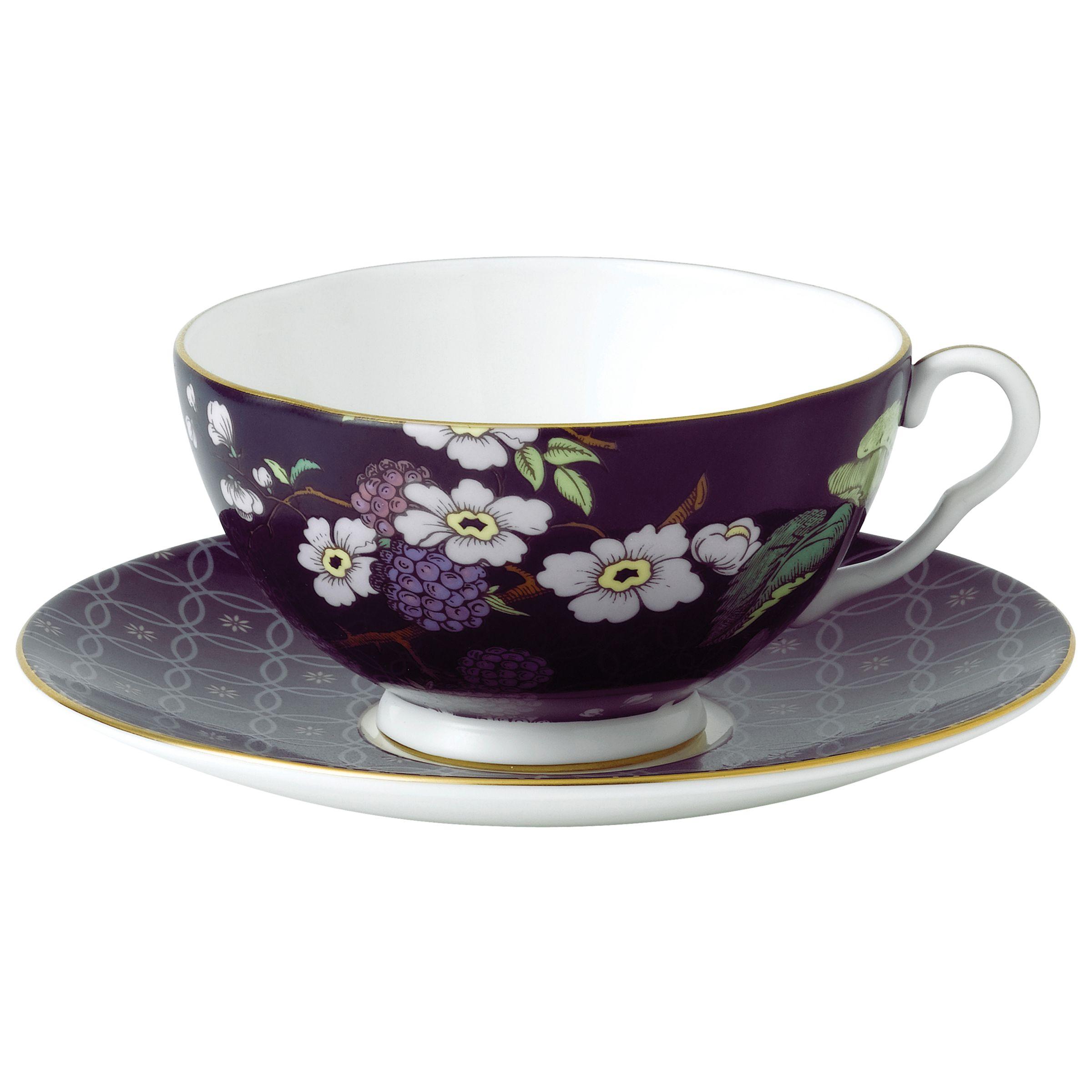 Wedgwood Wedgwood Tea Garden Blackberry Teacup & Saucer