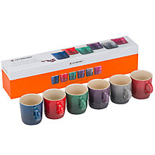 Buy Le Creuset Moorland Stoneware Espresso Mugs, Set of 6 Online at johnlewis.com