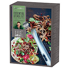 Buy Jamie Oliver Essential Utensils Set, 5 Piece Online at johnlewis.com