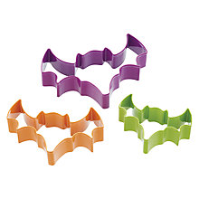Buy Kitchen Craft Halloween Bat Shaped Cookie Cutters, Set of 3 Online at johnlewis.com