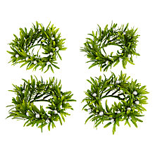 Buy John Lewis Mistletoe Berry Napkin Ring, Green / Silver, Set of 4 Online at johnlewis.com