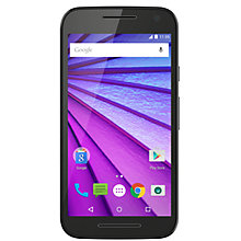 "Buy Motorola Moto G (3rd generation) Smartphone, Android, 5"", 4G LTE, SIM Free, 16GB, Black Online at johnlewis.com"