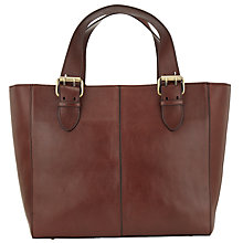 Buy John Lewis Penny Leather Tote, Dark Tan Online at johnlewis.com