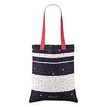 Buy Radley Cheshire Street Medium Cotton Tote Bag, Navy Online at johnlewis.com