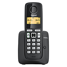Buy Gigaset A220A Digital Cordless Telephone with Answering Machine, Single DECT, Black Online at johnlewis.com
