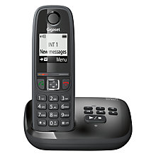 Buy Gigaset AS405A Digital Cordless Telephone with Answering Machine, Single DECT, Black Online at johnlewis.com