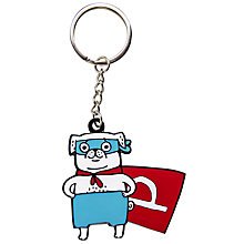 Buy Gemma Correll Super Hero Pug Keyring Online at johnlewis.com