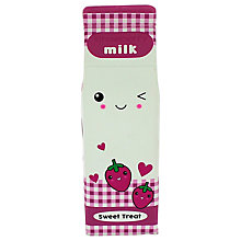 Buy Blueprint Strawberry Milk Pencil Case, Pink Online at johnlewis.com