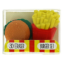 Buy Blueprint Burger And Fries Erasers, Pack of 2 Online at johnlewis.com
