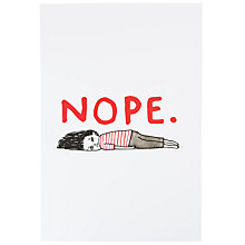 Buy Gemma Correll Nope A4 Notebook Online at johnlewis.com