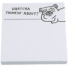 Buy Gemma Correll Whatcha Pug Sticky Notes Online at johnlewis.com