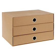 Buy House by John Lewis  Kraft Drawer Set Online at johnlewis.com